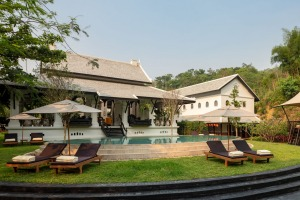 There are 23 themed rooms at Rosewood Luang Prabang.