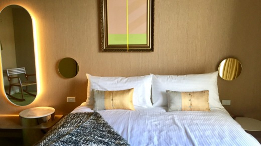 The writer stayed in a Nordic inspired room name after Swedish city Malmo, designed by Willis Sheargold.