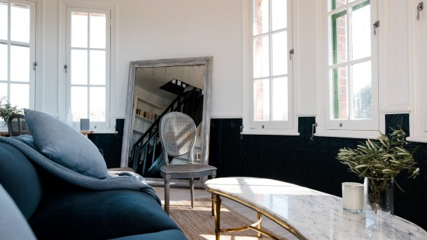 Marble-topped tables and curved walls: The Tower, Mount Ophir Estate.