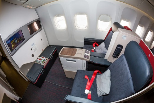 No.6 - Turkish Airlines. Pictured: Business class on the Boeing 777.