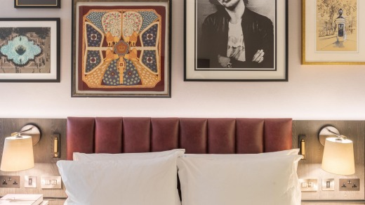 Sleek and modern with retro touches: A room at the Trafalgar St James.