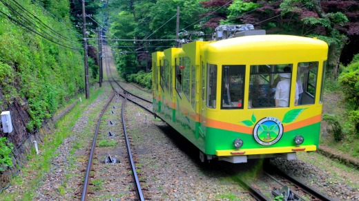 Mount Takao cable car.