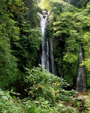 The spectacular and little visited Bedugal Waterfall, North Bali.