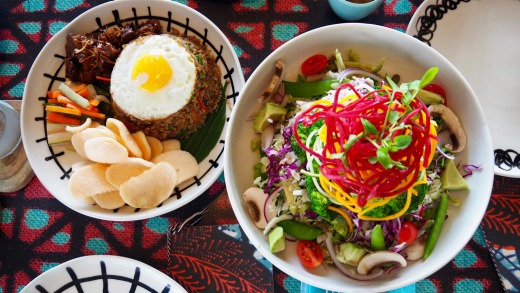A sampling of meals available at Como Uma Canggu.