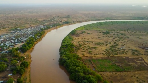 The Omo river.