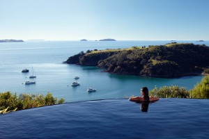 Cliff-top views: Delamore Lodge.