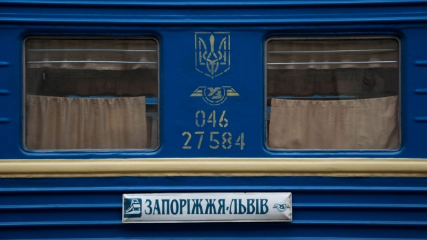 Overnight train carriage in Lviv, Ukraine.
