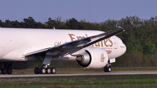 An Emirates cargo plane. The airline has indicated it would like to fly passenger planes with no windows.