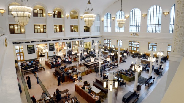 The Crawford Hotel is situated right inside Denver Union Station.