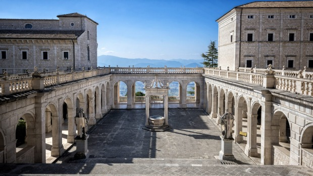 MONTE CASSINO, ITALY This hilltop extravaganza south of Rome is a pilgrim destination, since it houses the relics of ...