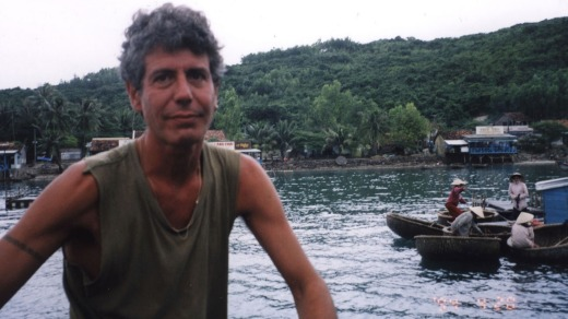 For his first TV series, A Cook's Tour, Bourdain headed to Cambodia.