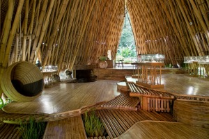 The stunning bamboo showroom at John Hardy Workshop, Bali.