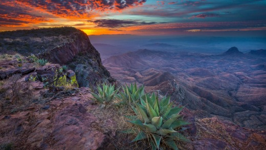 The view over Big Bend National Park in Texas.