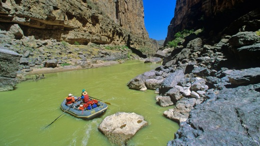Rafting at Tight Squeeze on the Rio Grande in Mariscal Canyon.