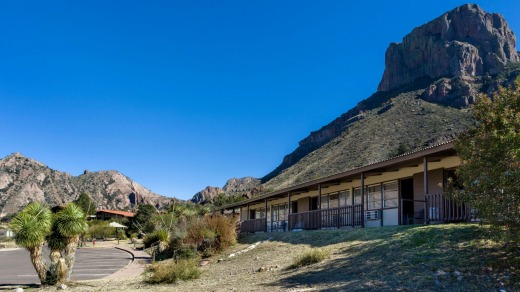 The Chisos Mountains Lodge, Big Bend National Park, Texas.