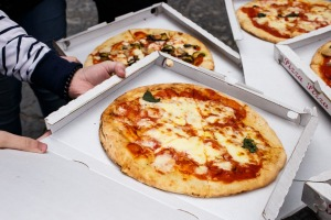 The home of pizza: Naples, Italy.