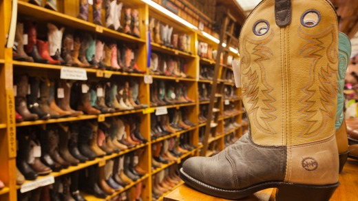 Wall Drug Store, cowboy boots.