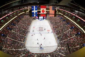 Passion for hockey: Bell Centre sports complex, Montreal.