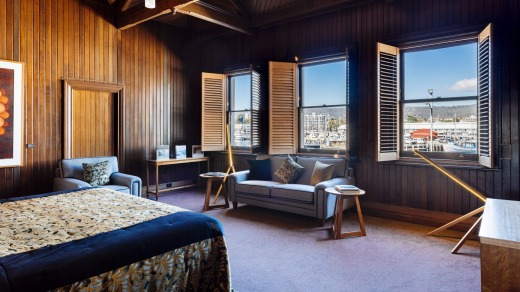 A room with views of Hobart harbour: Henry Jones Art Hotel.
