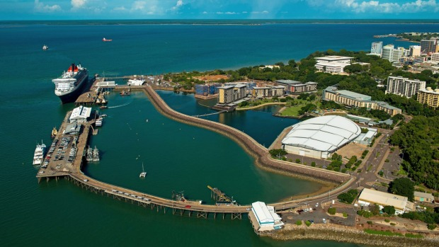 The trendy recreation area that is Darwin Waterfront Precinct.