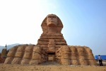 The replica of the Sphinx in Shijiazhuang, north China's Hebei Province. Officials from Cairo complained that the ...