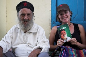 The Cuba cover star poses with his Lonely Planet cover.