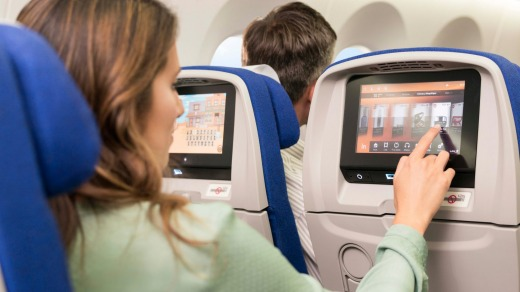 The entertainment screen might actually be better in economy than in business.