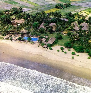 Paradise found on Bali, the 'island of the gods.' This shot, from the 1970s, shows the nearby rice fields, now long gone ...