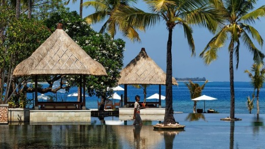 Resort relaxation at Oberoi Lombok.