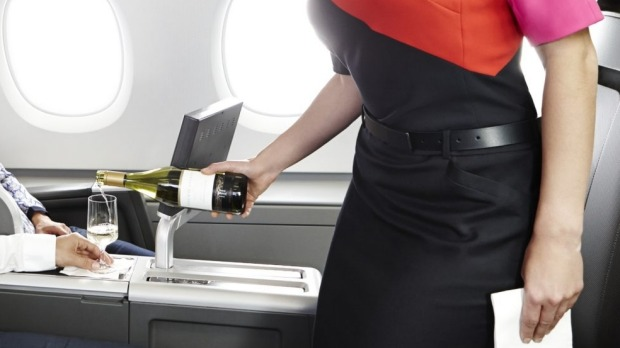 Free flowing drinks on Qantas seem to depend which direction you're flying in, according to one reader.