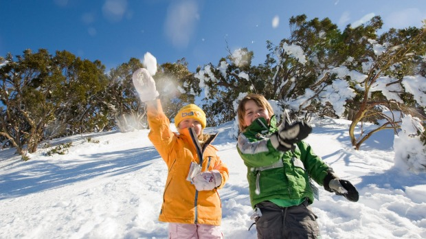 Fun in the snow at Mount Baw Baw.