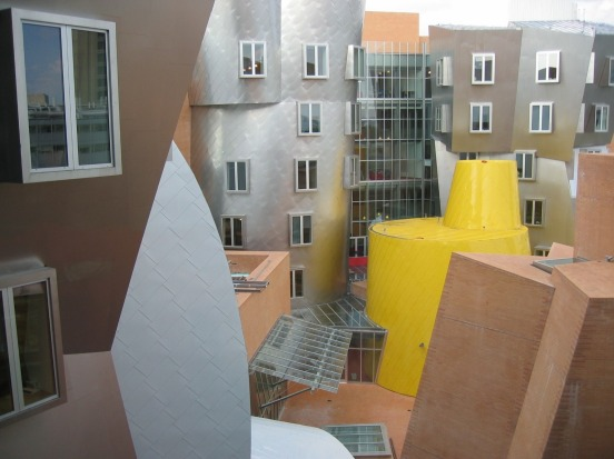 RAY AND MARIA STATA CENTRE, BOSTON: With its wandering walls, random curves, colliding facades and tilting columns, this ...