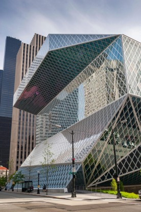 CENTRAL LIBRARY, SEATTLE: Famed Dutch architect Rem Koolhaas is responsible for this soaring box of steel and glass, ...