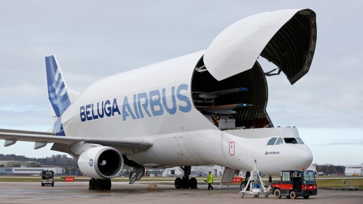 The original A300-600 Beluga super transporter.