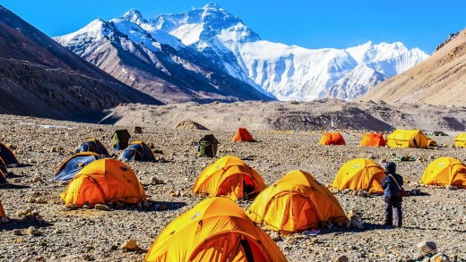 The girlfriends: Everest base camp.