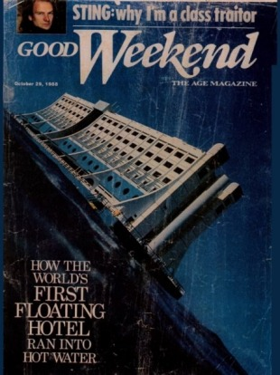 The hotel was featured on the cover of Good Weekend.