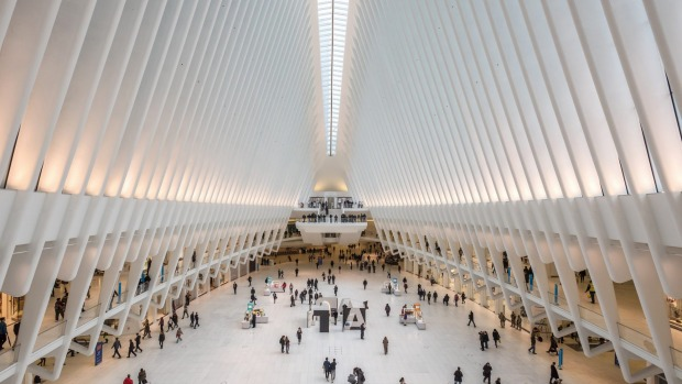 The mighty Oculus structure at the World Trade Center waves the flag for the regeneration of lower Manhattan.