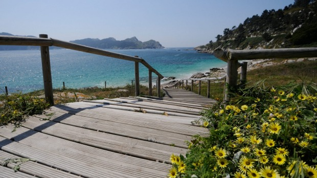 DGP2X9 Paradisiac Cies Islands (Islas Cies), natural reservation in Galicia, Spain, home of Rodas Beach (Praia das Rodas) Satjun30coverannual towns & cities
