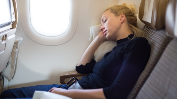 It's a good idea to pack items that'll help you sleep on a long-haul flight.
