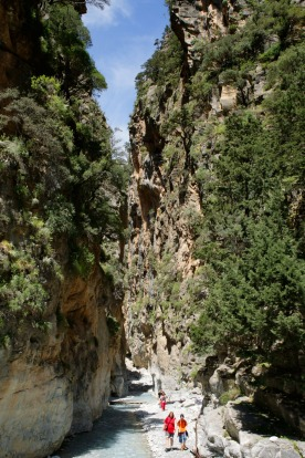 Ferries arrive at the jetty, but for hikers, it's the reward at the end of a hot, sweaty trek through the rugged Samaria ...