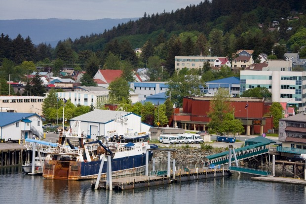 The town of Juneau, Southeast Alaska.