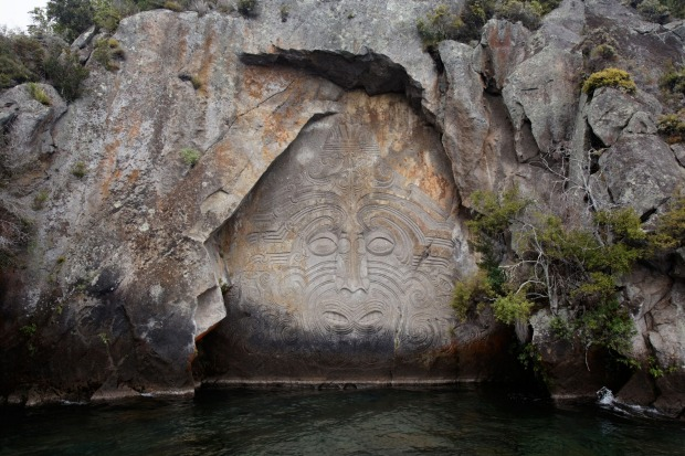 The Mine Bay Rock Carvings, New Zealand: In 1976, wearing just Speedos and safety goggles, Matahi Whakataka-Brightwell ...