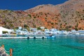 D14H97 Loutro village at Crete island in Greece. Area of Chora Sfakion