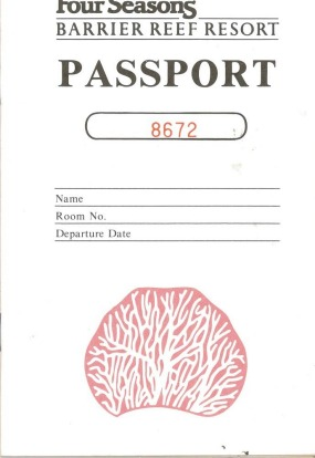 A guest passport to the hotel.