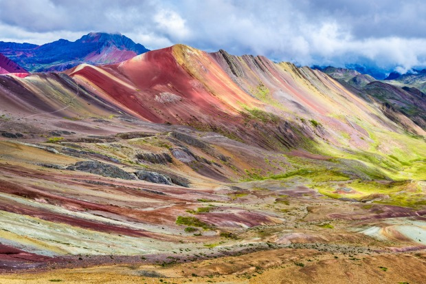 RAINBOW MOUNTAIN (PERU) Rivalling Cano Cristales as South America's most colourful sight is this curious mountain in ...