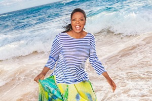 Oprah Winfrey is godmother to HAL's cruise ship, Nieuw Statendam.