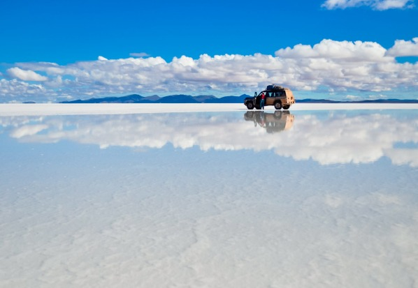 SALAR DE UYUNI (BOLIVIA) Surround yourself with sparkling salt and an almost incomprehensible sense of vastness at the ...