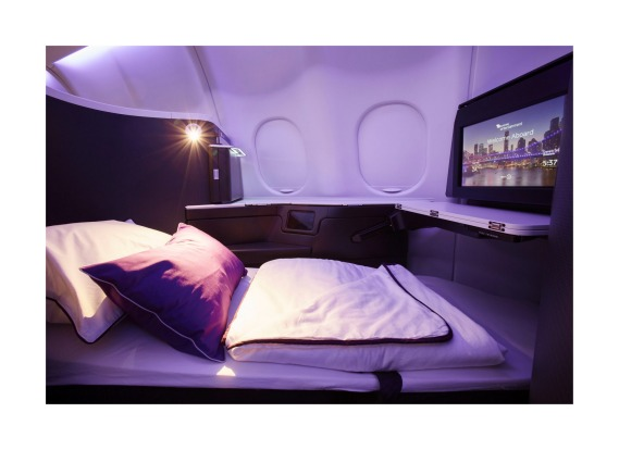 Virgin Australia A330-200 Business Class cabin.