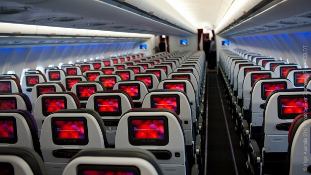 Virgin Australia economy class on an Airbus A330. All passengers on rescue flights will sit in economy, with social ...