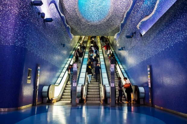 "Toledo Metro Statio, Naples: Several stops along lines 1 and 6 in Naples have been designated as ""art stations"" and ..."
